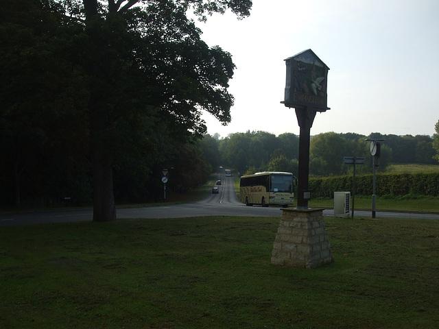 DSCF5875 Mark Bland Travel Van Hool Alizee passing Empingham - 10 Sep 2014