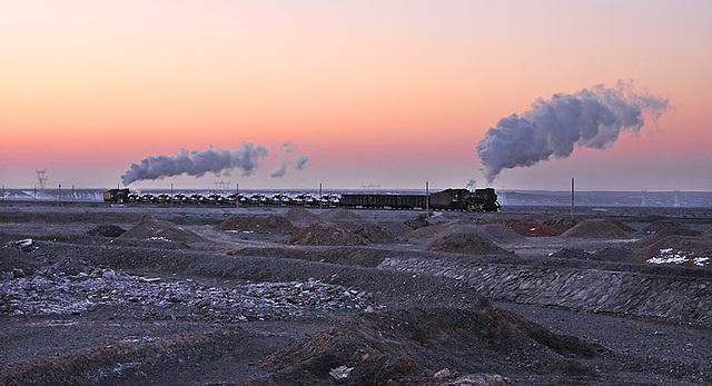 Steam before sunrise
