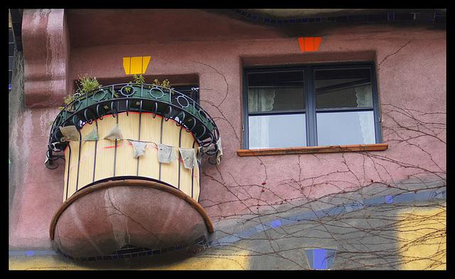 Vienne balcon maison Hundertwasser