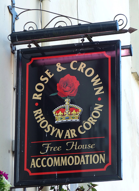 'Rose and Crown/ Rhosyn ar Coron'