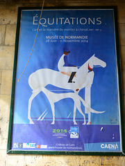 Caen 2014 – Poster for the excellent Équitations exhibition