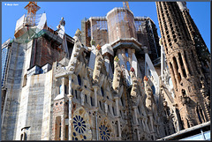 La Sagrada Família...The roof of the nave in scaffolding ~Barcelona ~