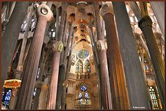 La Sagrada Família of Antoni Gaudi..... inside ~Barcelona ~