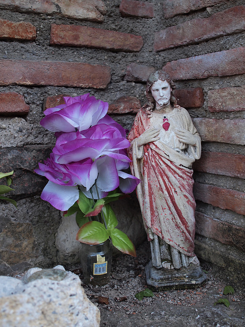 Jesus with Flower