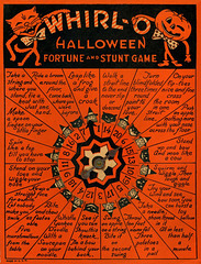 Whirl-O Halloween Fortune and Stunt Game