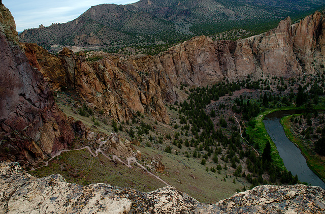 View of Crooked River From Smith Rock