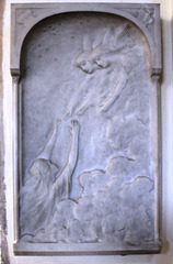 Monument at St Andrew's Church, Kimbolton, Cambridgeshire