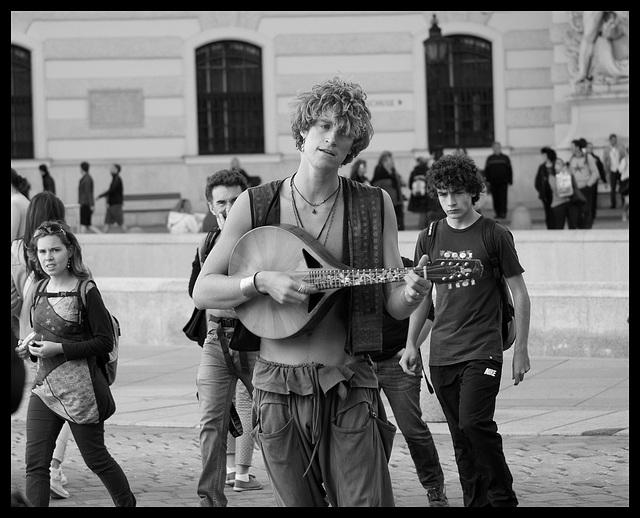 Musicien de rue Vienne