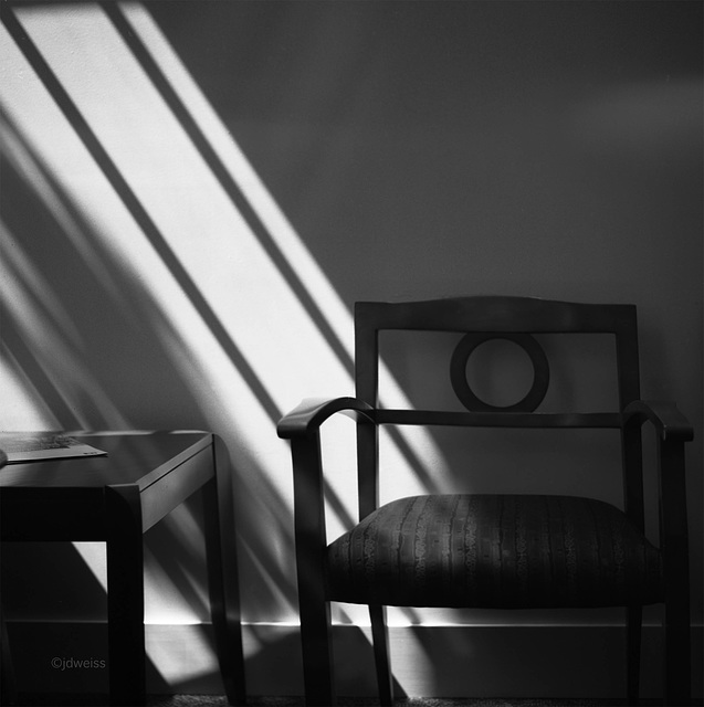 chair in the light stream