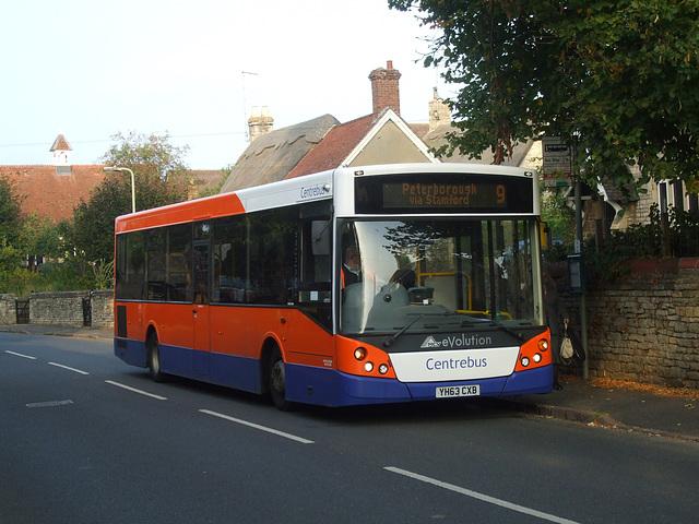DSCF5866  Centrebus 671 (YH63 CXB) in Empingham - 10 Sep 2014