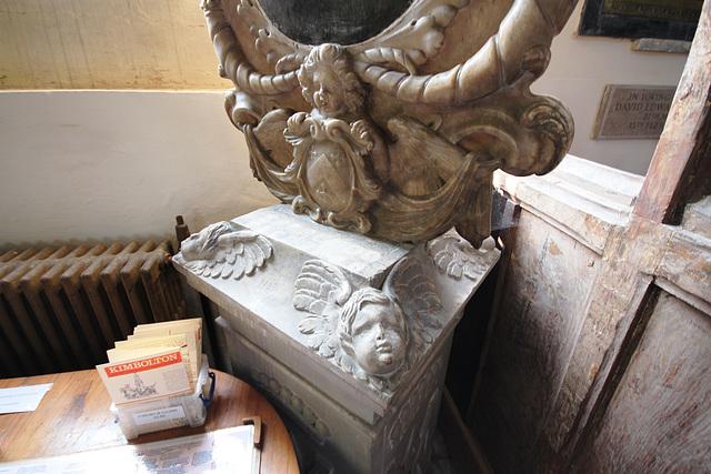 Detail of Memorial, St Andrew's Church, Kimbolton, Cambridgeshire
