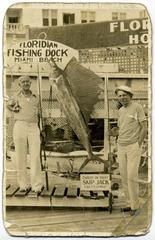 Sailfish Caught on Yacht Skip Jack, Floridian Hotel Dock, Miami Beach, Florida
