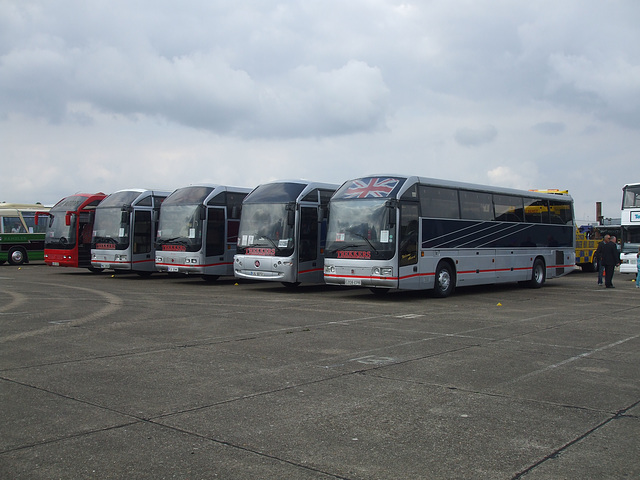 DSCF6084 Line up of Hestair Duple 425 coaches