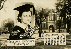 Alberta Mays, Class of 1936, Mulberry High School, Mulberry, Indiana