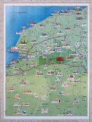 P6241874ac A13 Rest Area Large Panel Showing Landmarks of Normandy