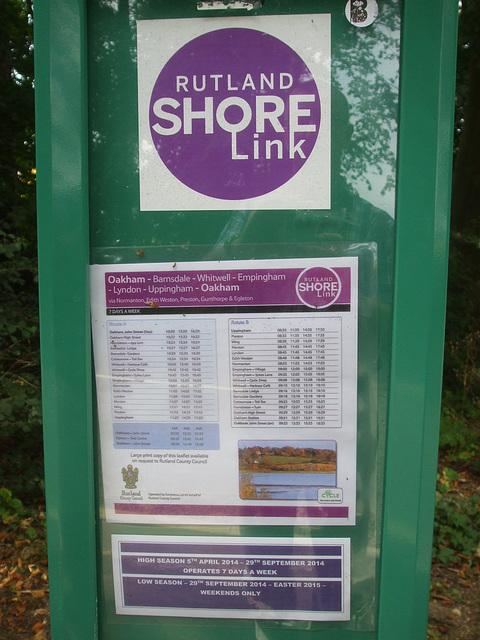DSCF5889 Rutland Shorelink timetable display