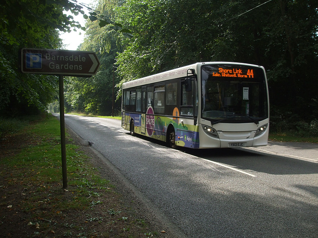 DSCF5890 Centrebus YX13 EJC passing Barnsdale - 10 Sep 2014
