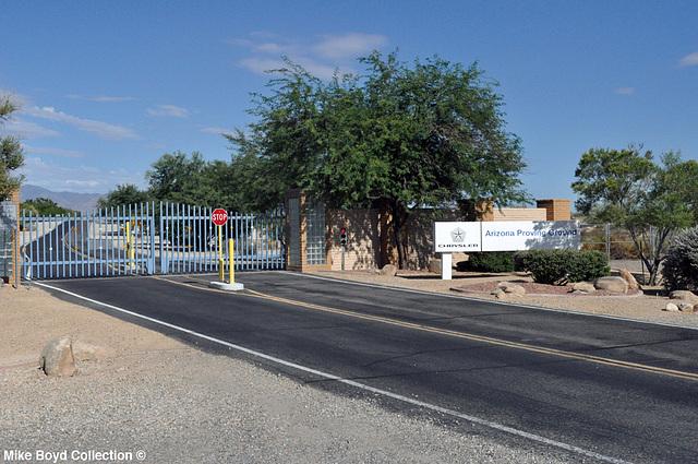 AZ arizona proving ground entrance yucca 07'14