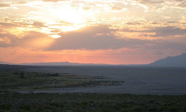 Black Rock Desert, NV sunrise  (0214)