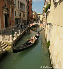 Venice - canal and gondola - iconic sight