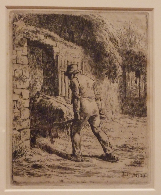 Peasant Returning from the Manure Heap by Millet in the Philadelphia Museum of Art, August 2009
