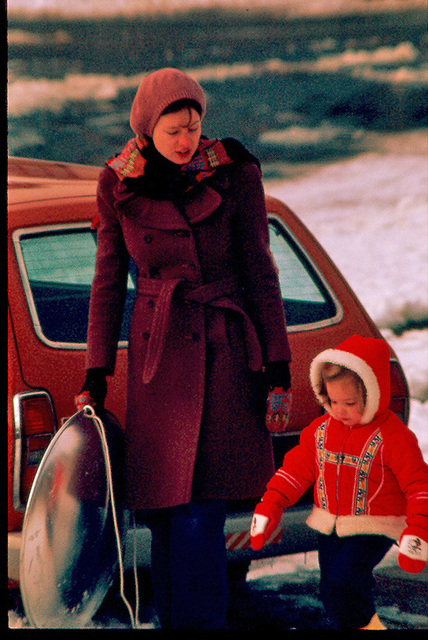 The '70s. Apres sledding