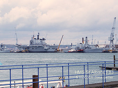 HMS St. Albans F83 & an Invincible class carrier - Portsmouth Harbour - 20.7.2005