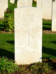 Bayeux War Cemetery 2014 – A soldier of the 1939-1945 war – Known unto God