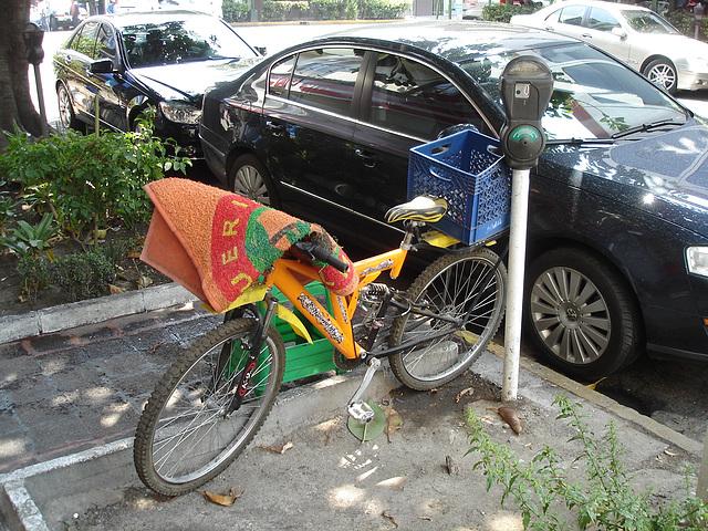 Vélo tapis / Carpet bike / Bicicleta y alfombera.