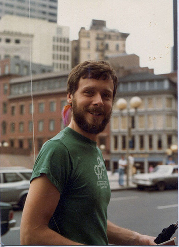 Self in Boston early 1980s by Rob Meyer
