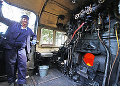 On the footplate of a Black 5