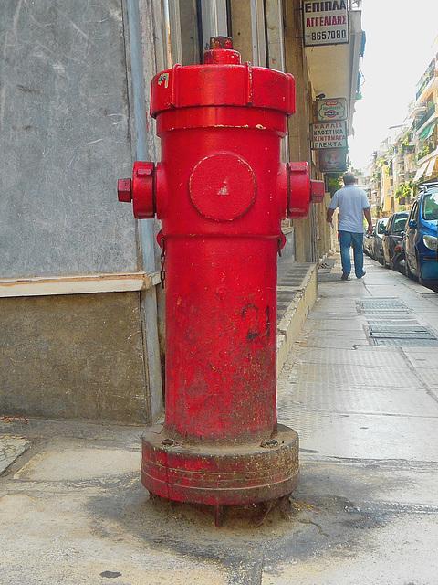 EYDAP fire hydrant