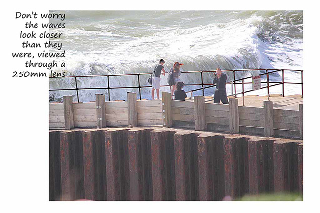 Snapped on the breakwater  - Seaford - 29.8.2014