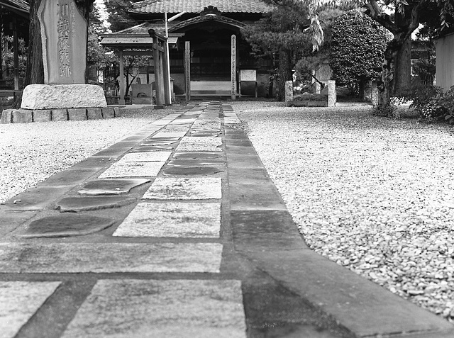 Stone path to a temple