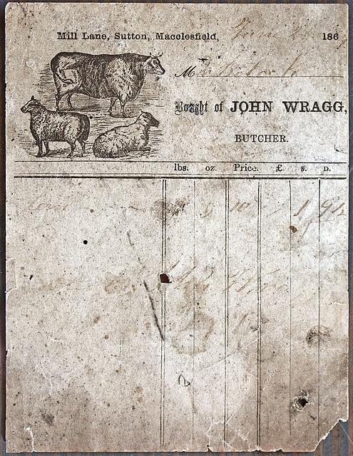 John Wragg, Butcher, 45 Mill Lane, Sutton
