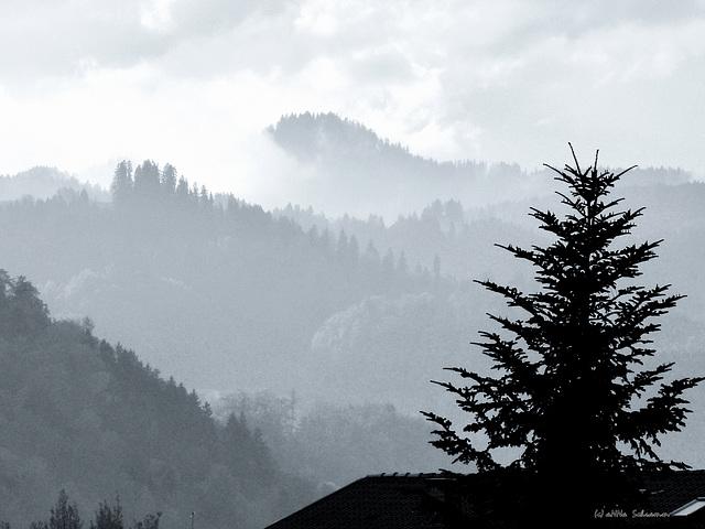 Kranzhorn in Wolken