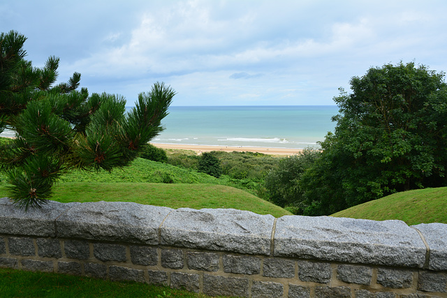Omaha Beach 2014 – Normandy American Cemetery and Memorial at Colleville-sur-Mer – View of Omaha Beach