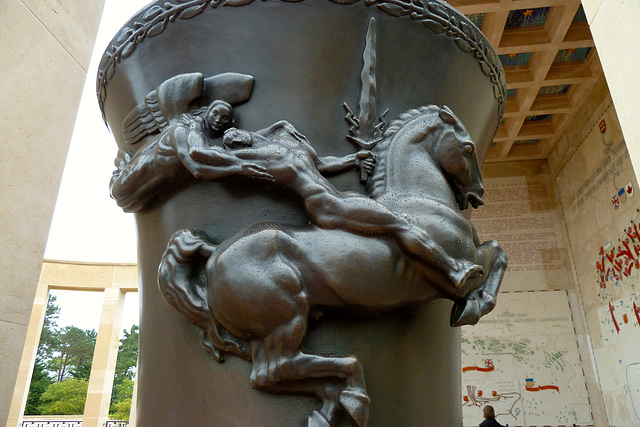 Omaha Beach 2014 – Normandy American Cemetery and Memorial at Colleville-sur-Mer – Ornamental urn