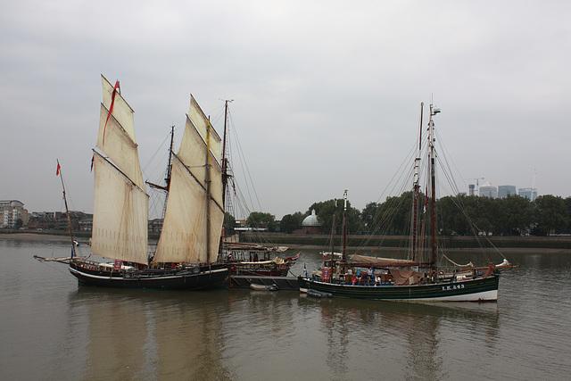 Three Tall Ships