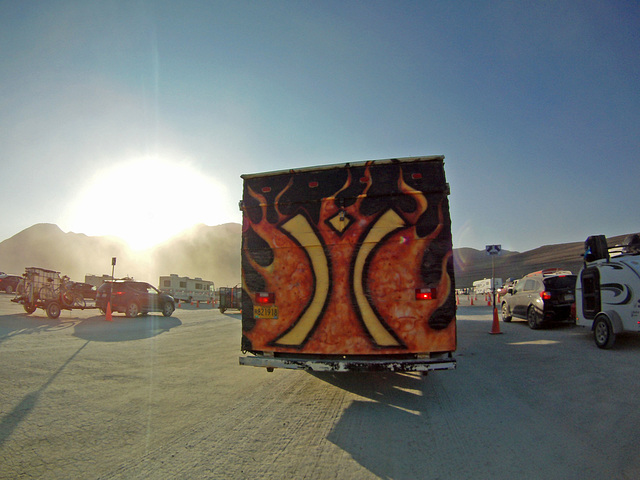Exiting Burning Man 2014 (1004)