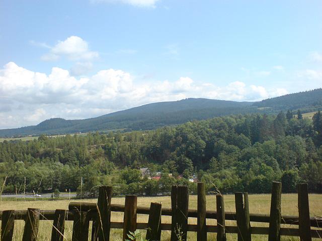 Pejzaż Kotliny Kłodzkiej -  Landscape of Kłodzko mountainous valley