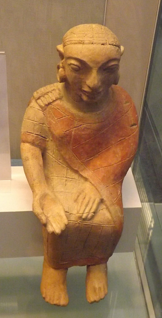 Etruscan Terracotta Seated Figure in the British Museum, May 2014