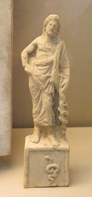 Terracotta Figure of Asclepius in the British Museum, April 2013