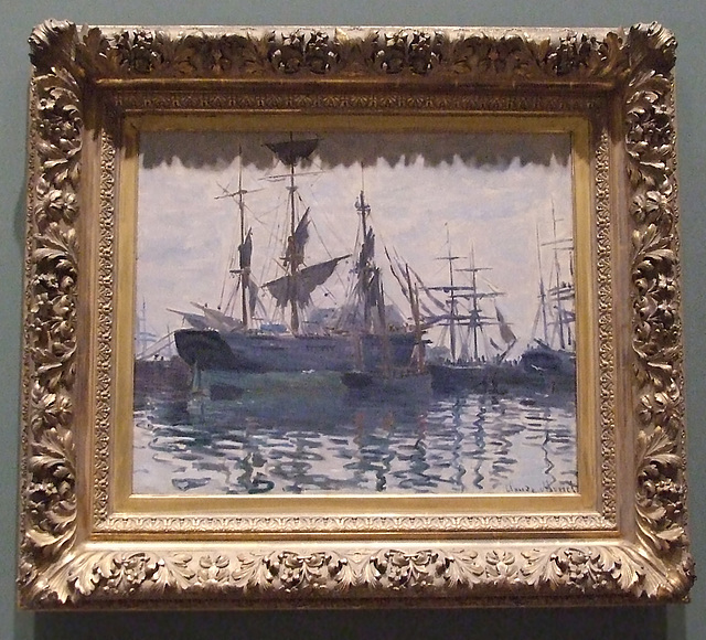 Ships in a Harbor by Monet in the Boston Museum of Fine Arts, July 2011