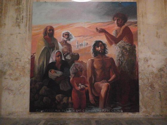 Peinture dans la cathédrale
