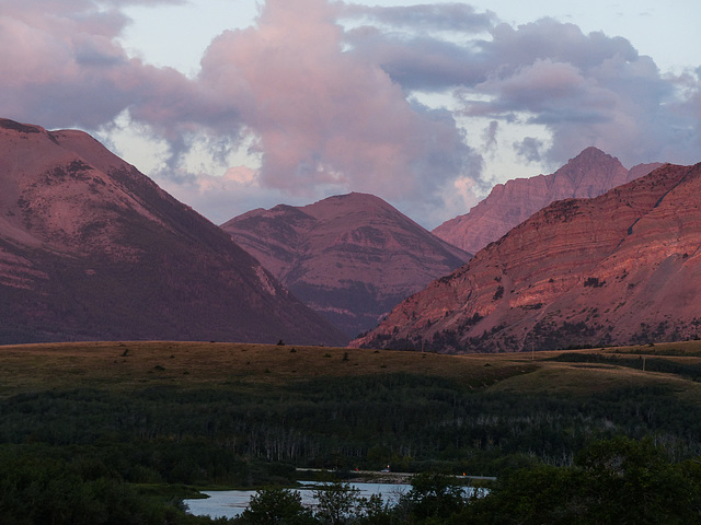 When the mountains turn pink