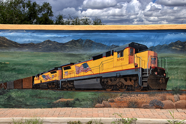 Railroad Mural at the Benson Visitor Center