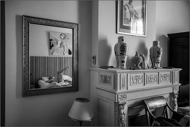 Chambre au miroir.