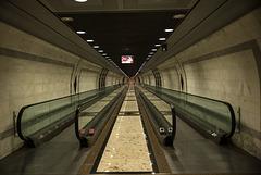 MONACO: Une des entrées de la gare.