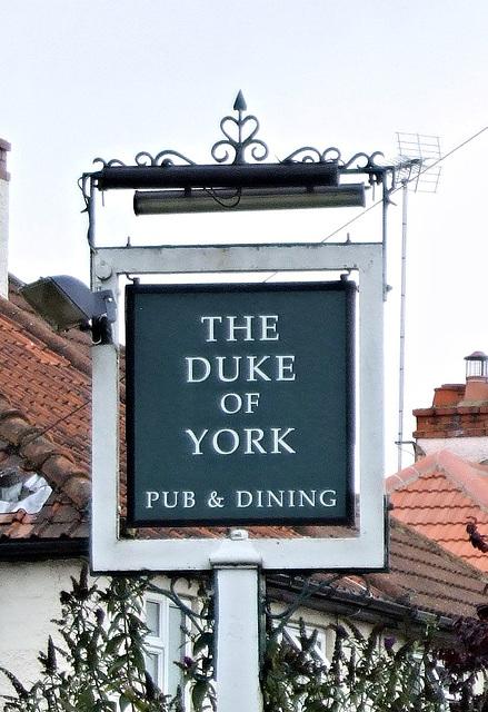 The Duke of York pub sign, Weybourne